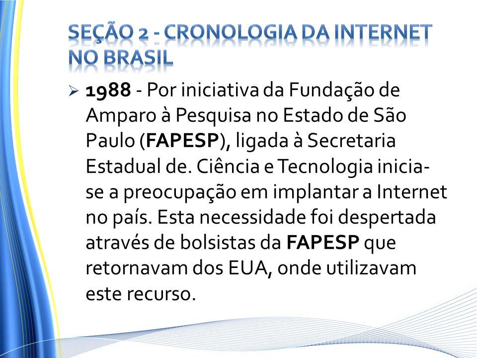 Seção 2 - Cronologia da Internet no Brasil