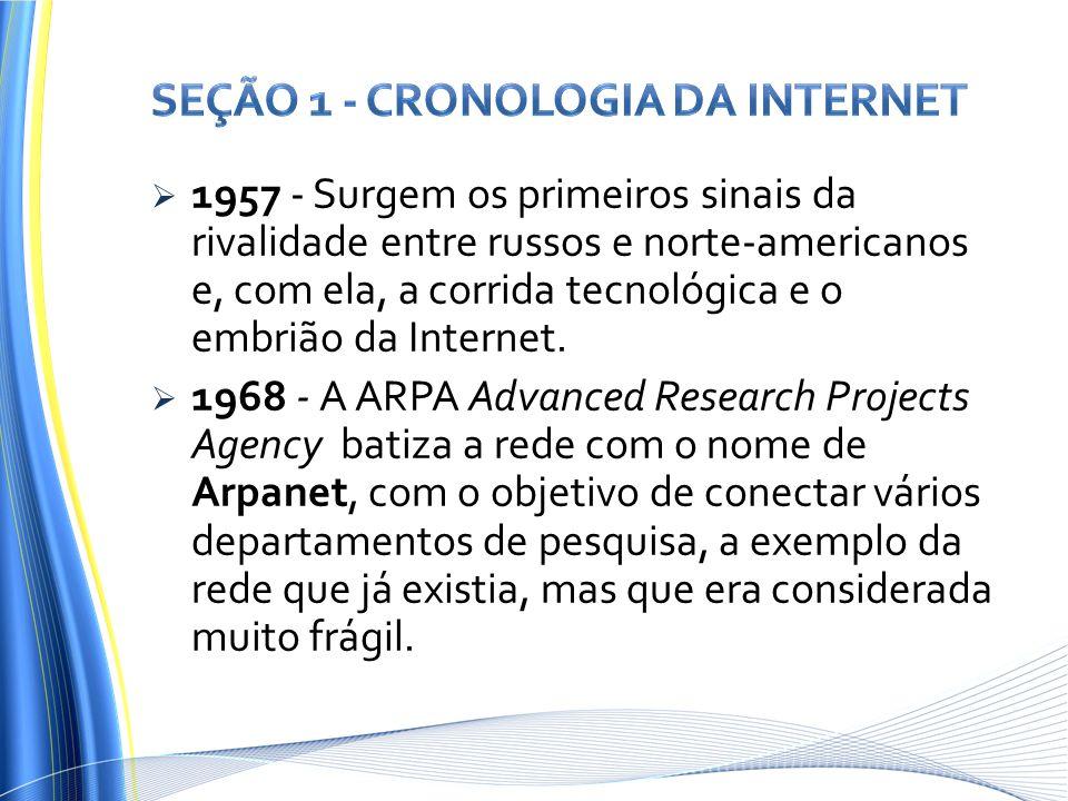 Seção 1 - Cronologia da Internet