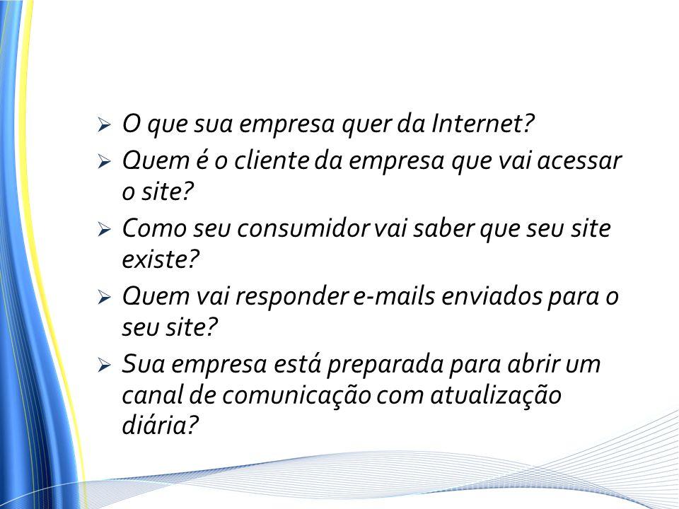O que sua empresa quer da Internet