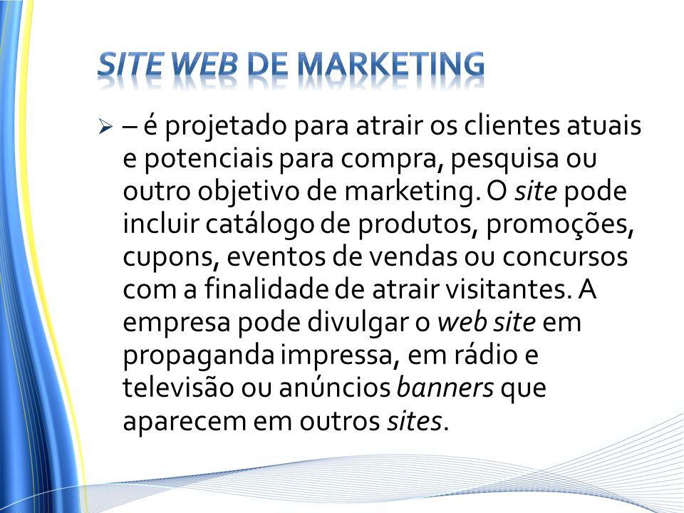 Site web de marketing