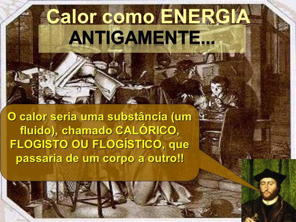 Calor como ENERGIA ANTIGAMENTE...