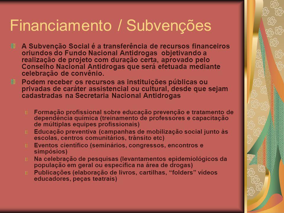 Financiamento / Subvenções