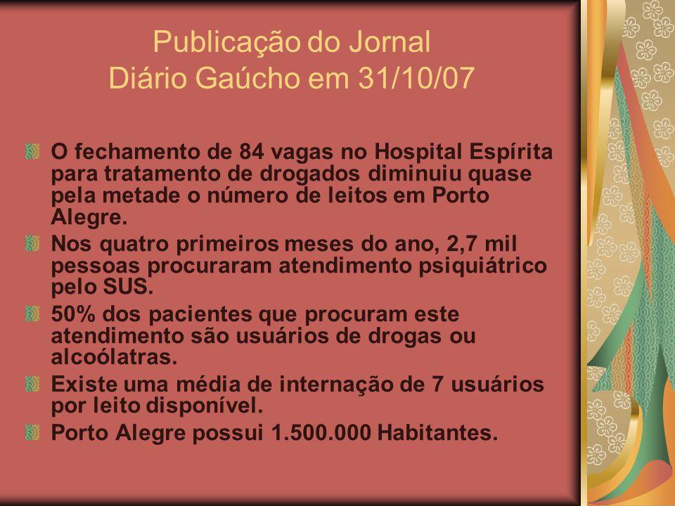 Publicação do Jornal Diário Gaúcho em 31/10/07