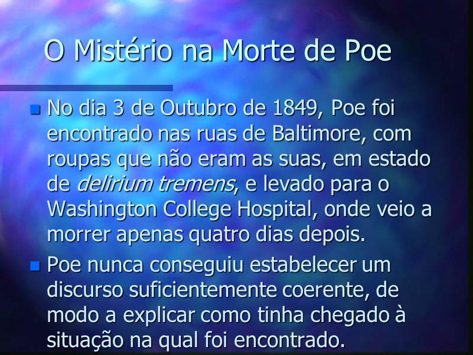 O Mistério na Morte de Poe