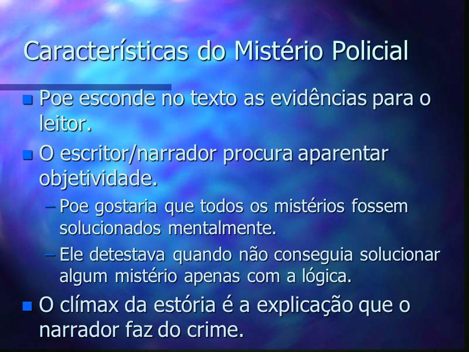 Características do Mistério Policial
