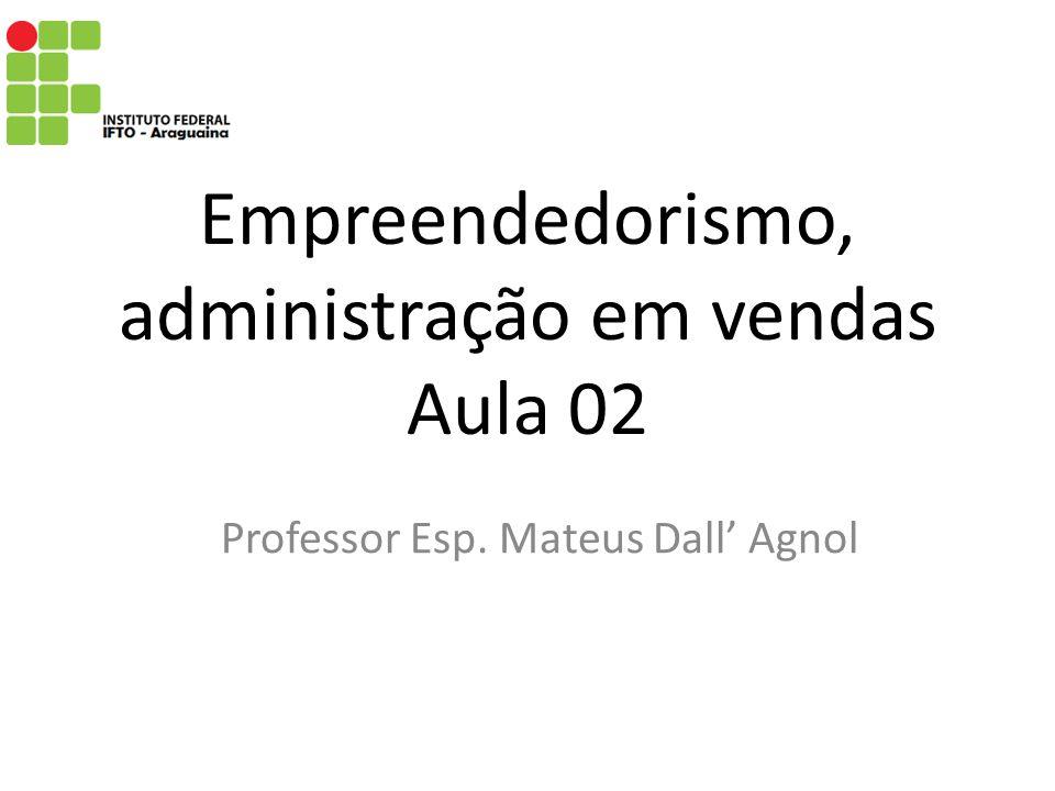 Empreendedorismo, administração em vendas Aula 02