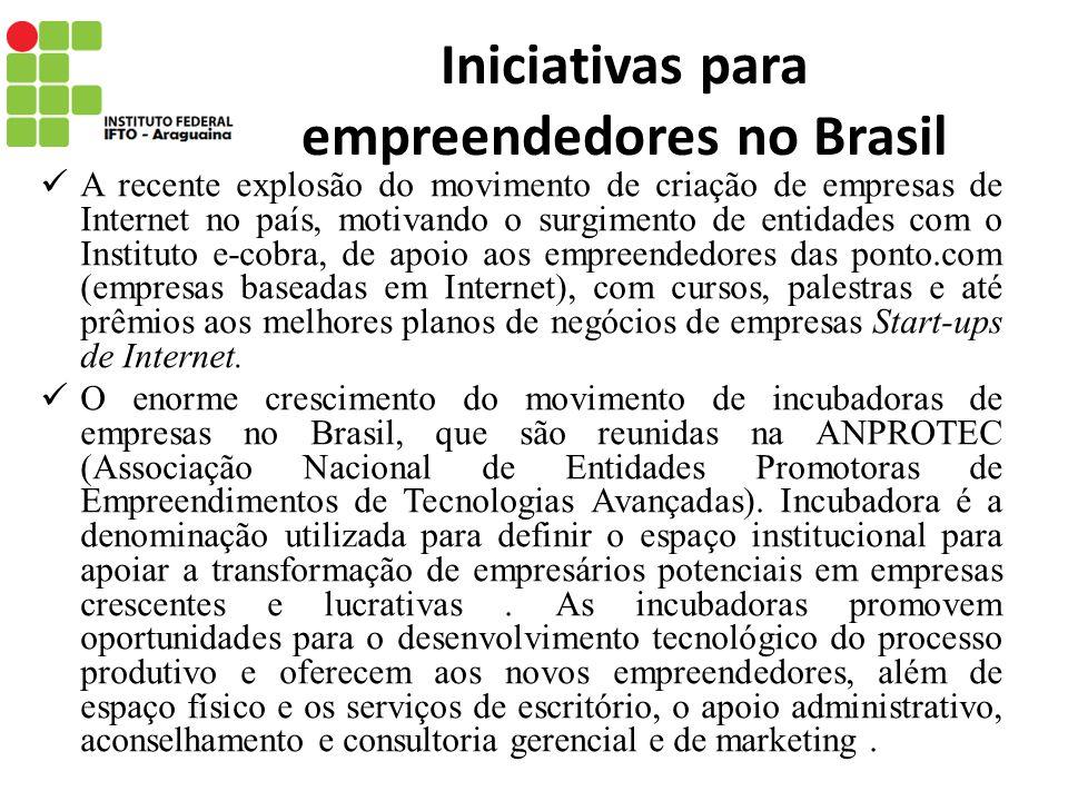Iniciativas para empreendedores no Brasil