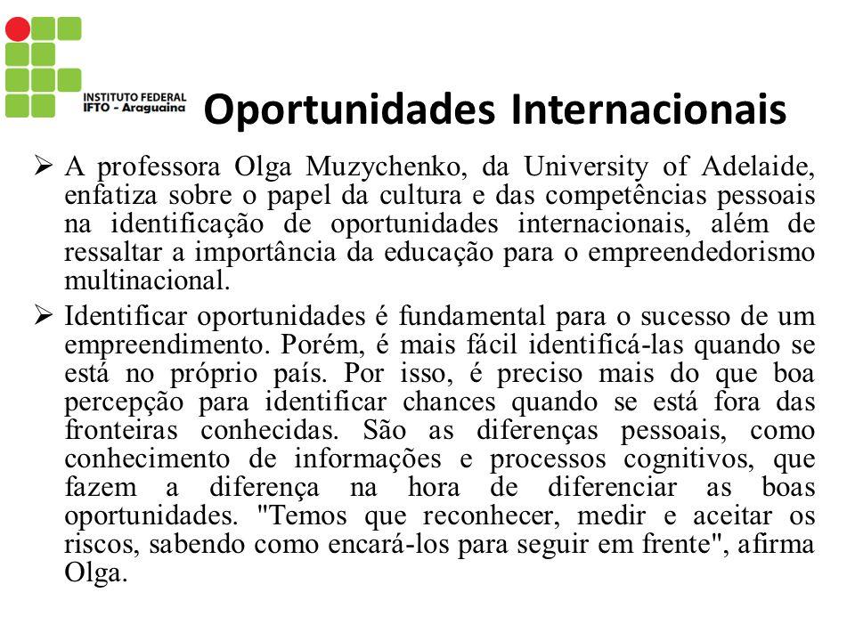 Oportunidades Internacionais
