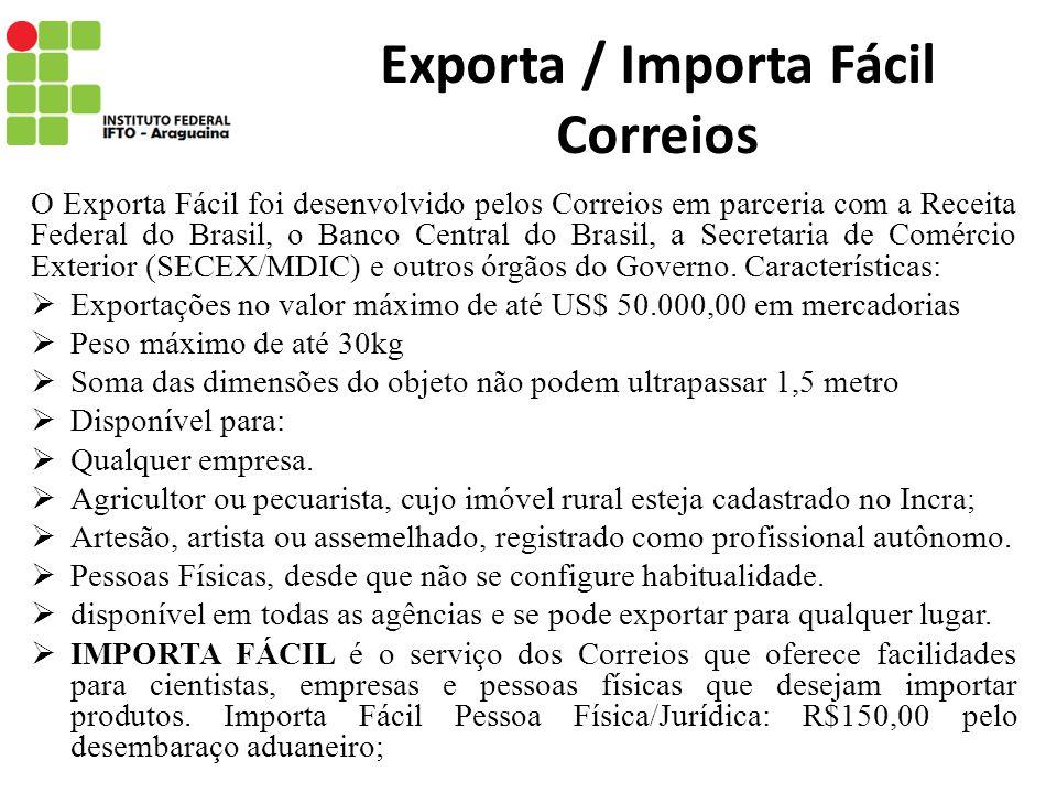 Exporta / Importa Fácil Correios