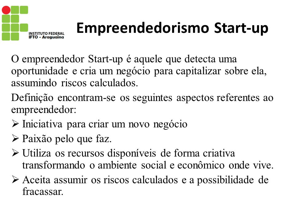 Empreendedorismo Start-up