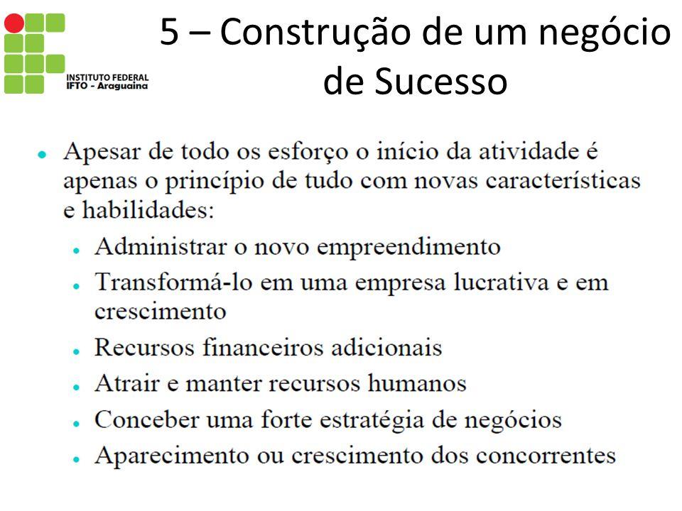 5 – Construção de um negócio de Sucesso