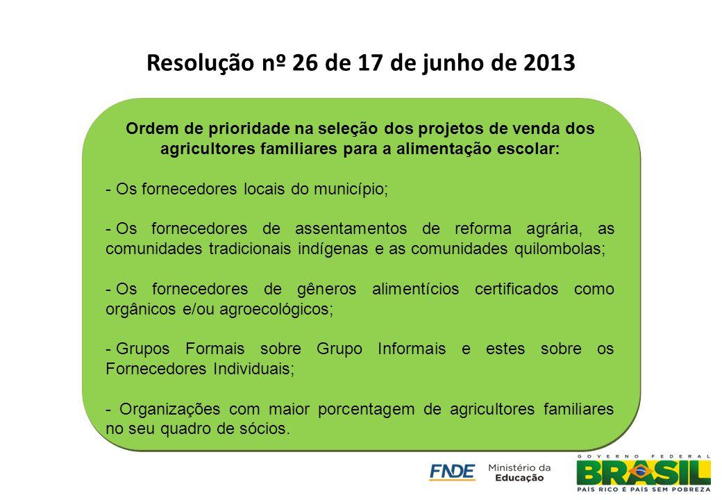 Resolução nº 26 de 17 de junho de 2013