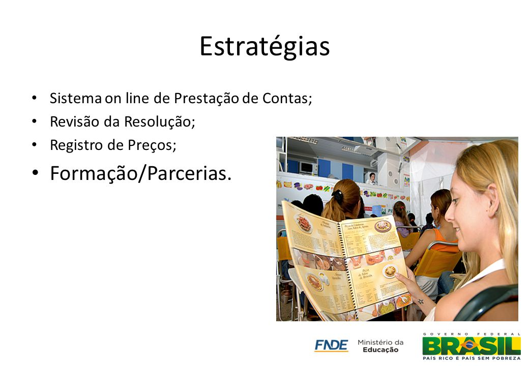 Estratégias Formação/Parcerias.