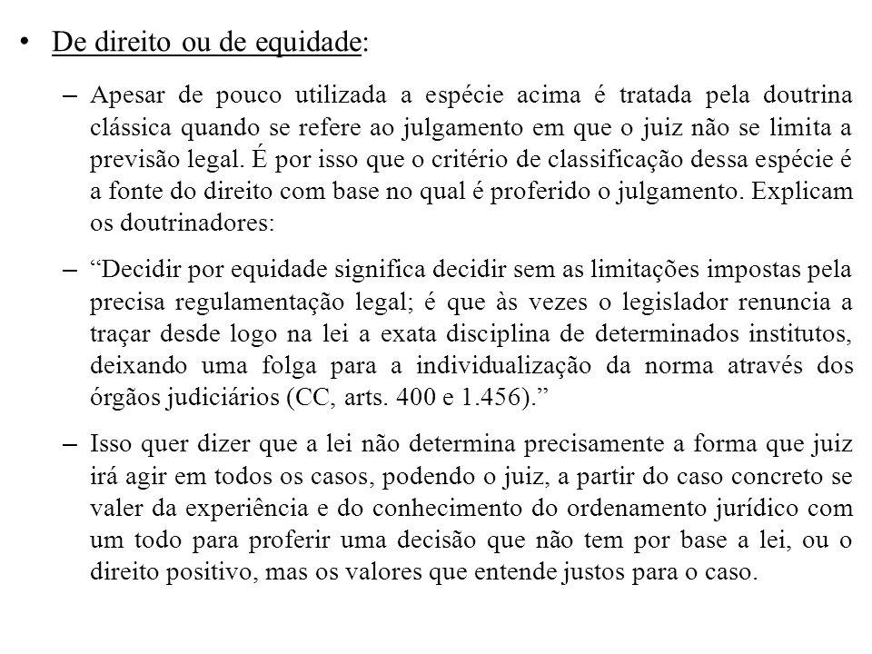 De direito ou de equidade:
