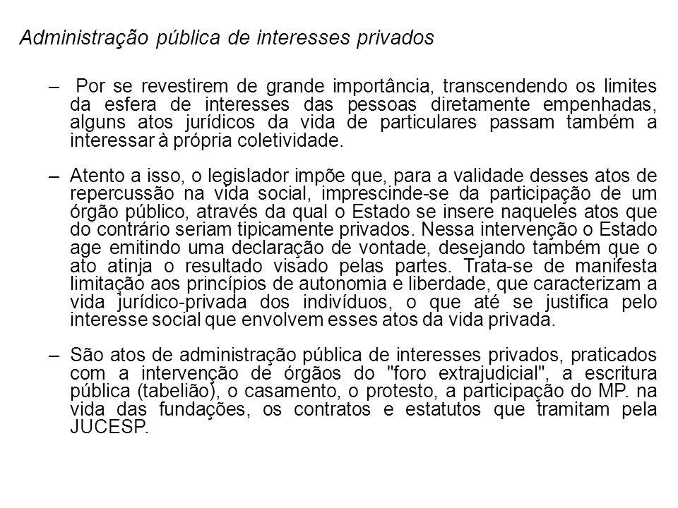 Administração pública de interesses privados