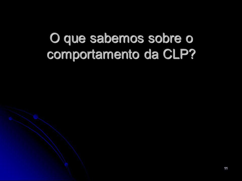 O que sabemos sobre o comportamento da CLP
