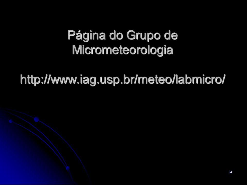 Página do Grupo de Micrometeorologia http://www. iag. usp