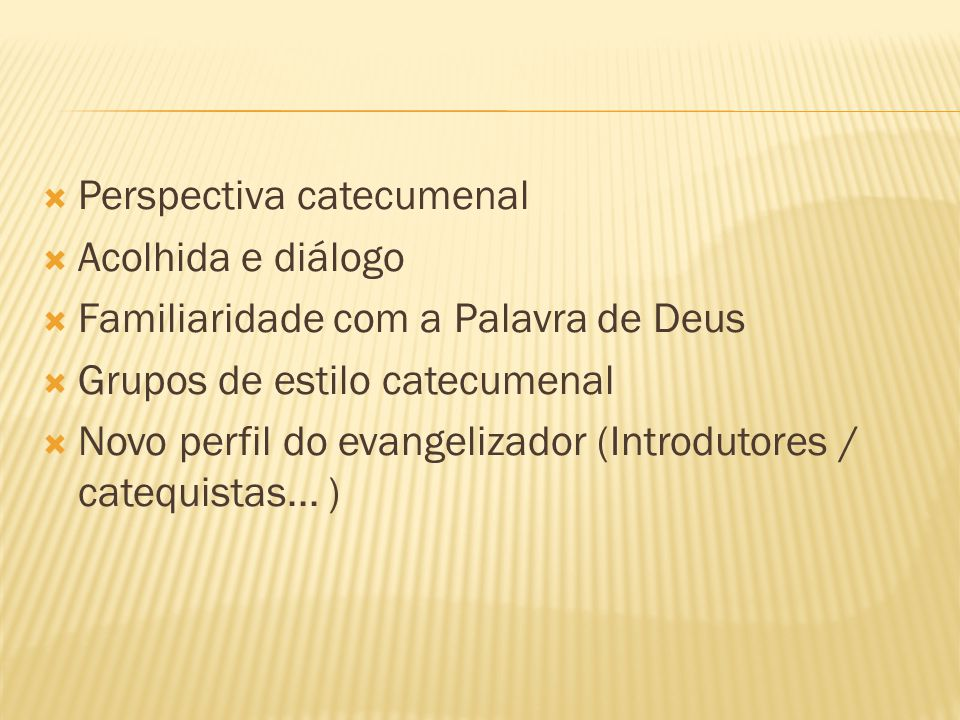 Perspectiva catecumenal