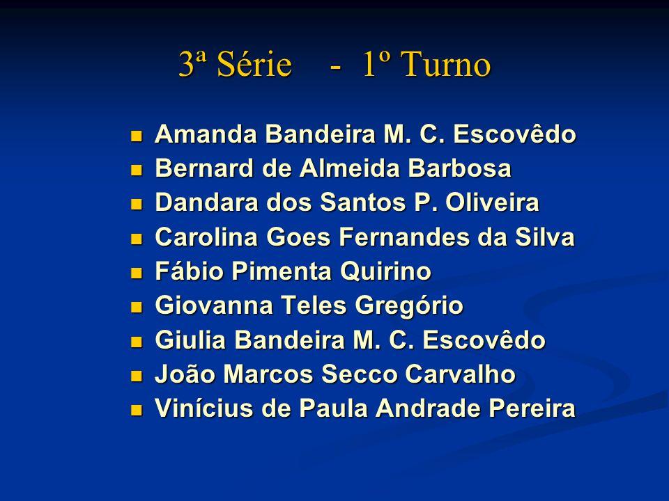 3ª Série - 1º Turno Amanda Bandeira M. C. Escovêdo