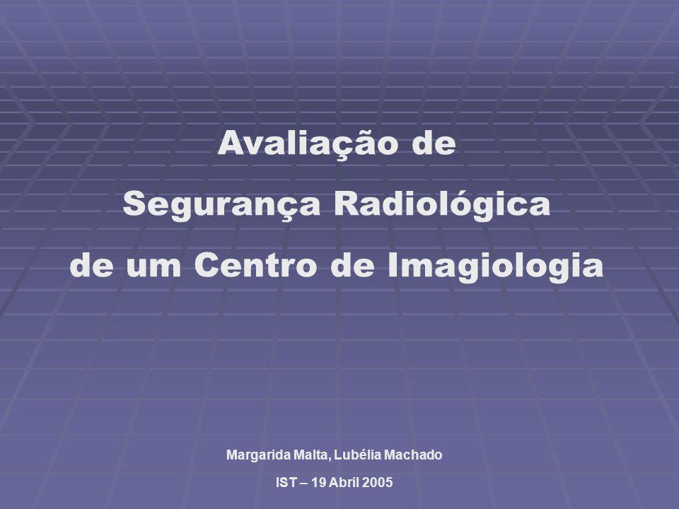 Avaliação de Segurança Radiológica de um Centro de Imagiologia