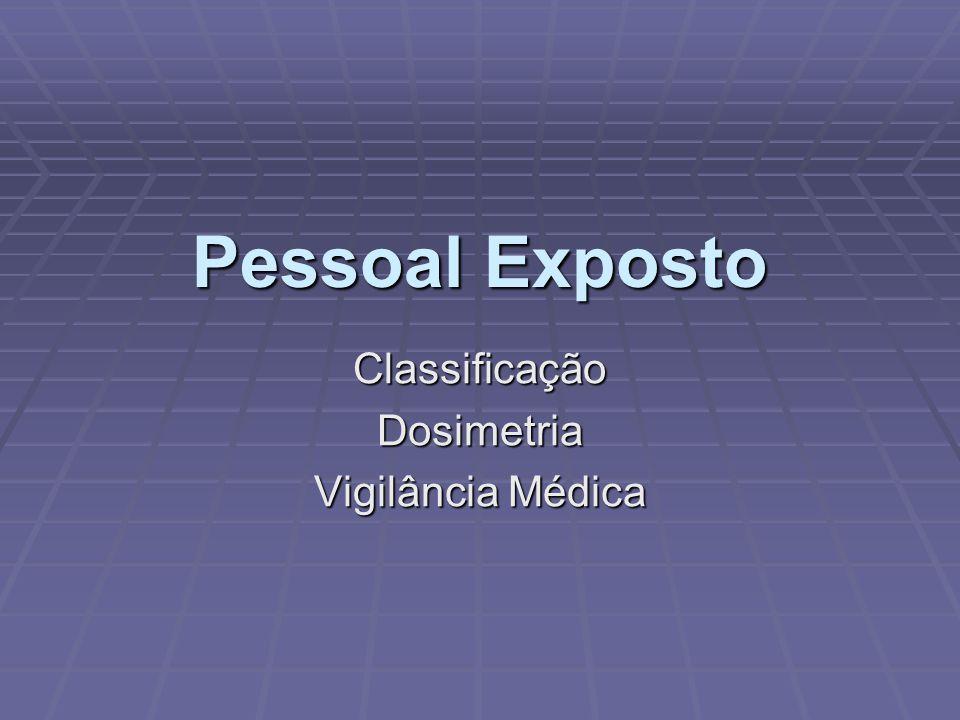 Classificação Dosimetria Vigilância Médica