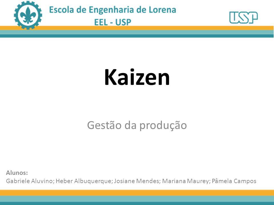 Kaizen Gestão da produção Alunos: