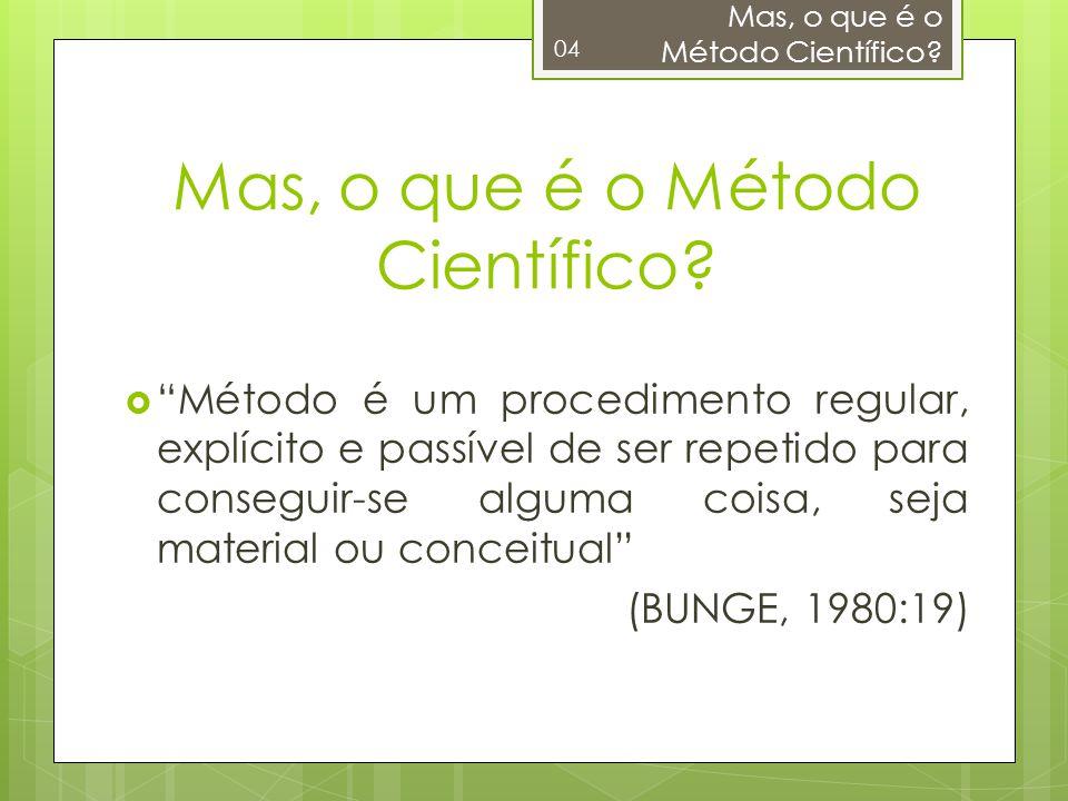 Mas, o que é o Método Científico
