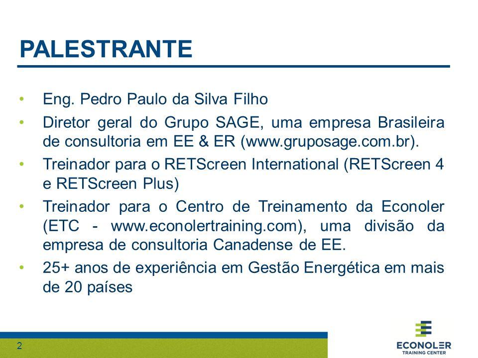 PALESTRANTE Eng. Pedro Paulo da Silva Filho