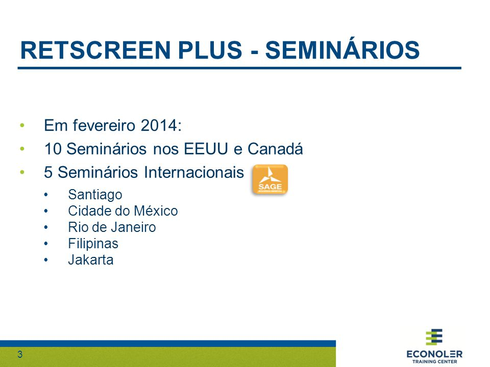 RETScreen plus - seminÁrios