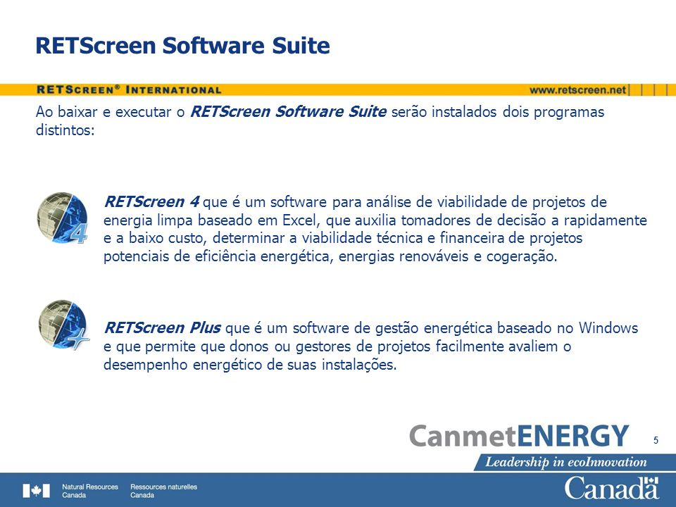 RETScreen Software Suite
