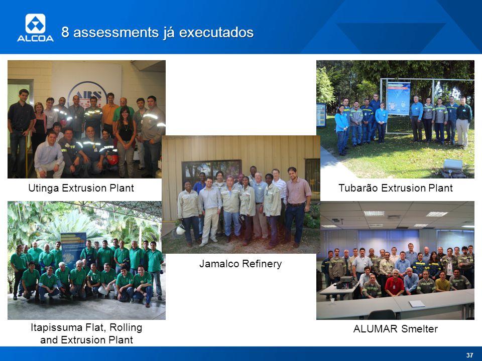 8 assessments já executados