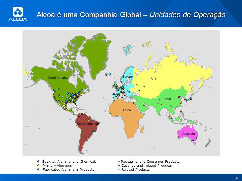 Alcoa é uma Companhia Global – Unidades de Operação