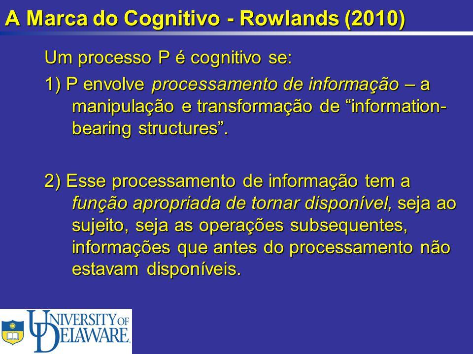 A Marca do Cognitivo - Rowlands (2010)