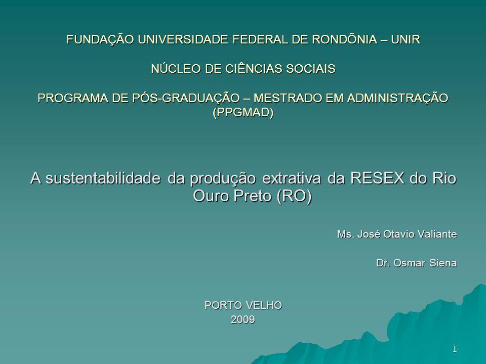 FUNDAÇÃO UNIVERSIDADE FEDERAL DE RONDÕNIA – UNIR NÚCLEO DE CIÊNCIAS SOCIAIS PROGRAMA DE PÓS-GRADUAÇÃO – MESTRADO EM ADMINISTRAÇÃO (PPGMAD)