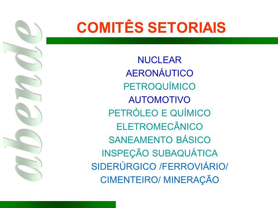 COMITÊS SETORIAIS NUCLEAR AERONÁUTICO PETROQUÍMICO AUTOMOTIVO