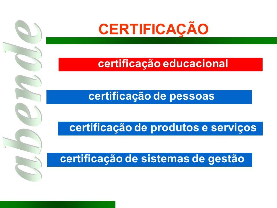 CERTIFICAÇÃO certificação educacional certificação de pessoas