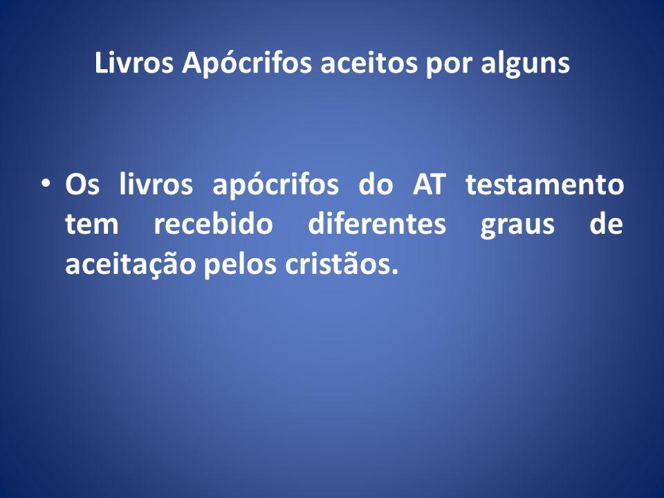 Livros Apócrifos aceitos por alguns