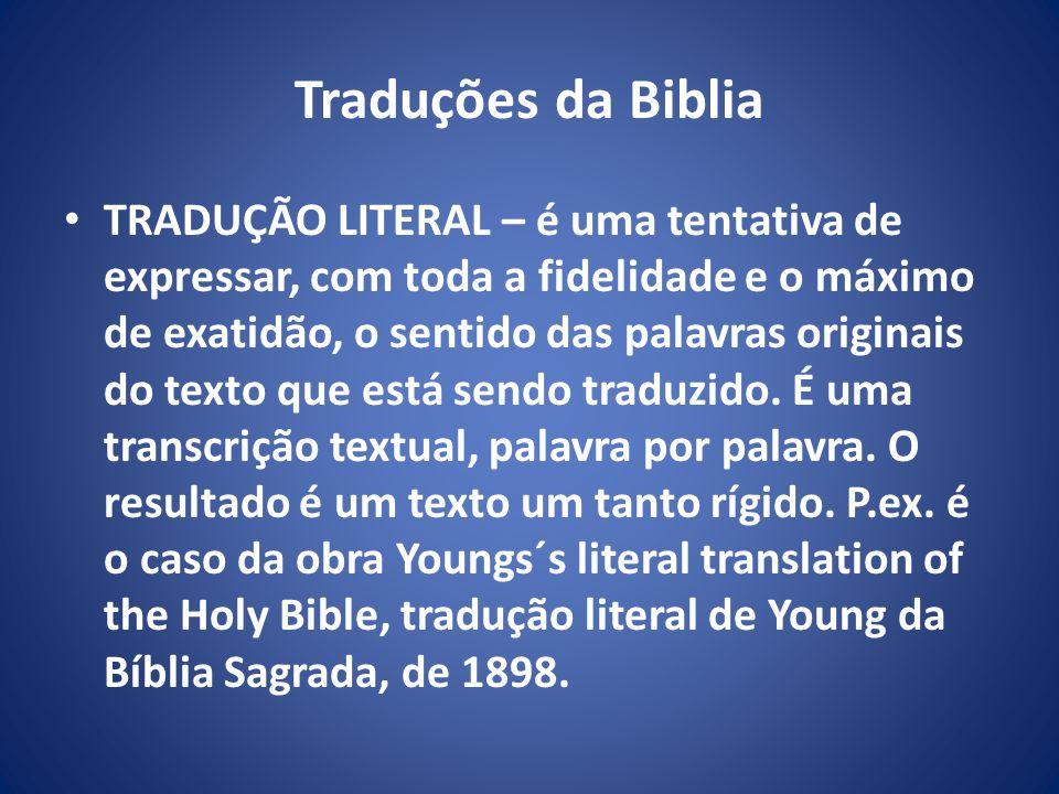 Traduções da Biblia