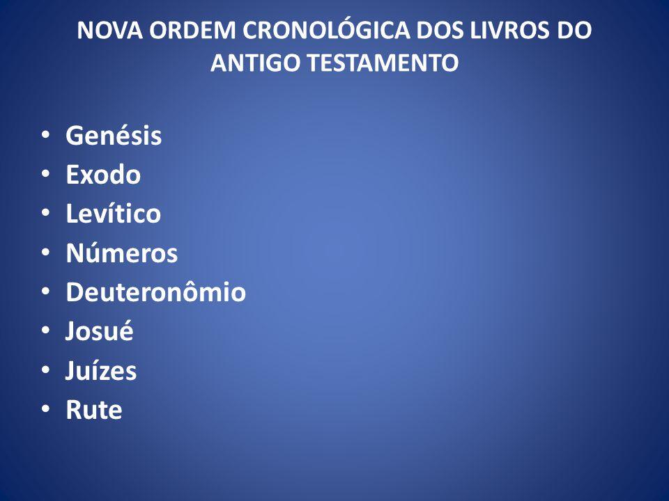 NOVA ORDEM CRONOLÓGICA DOS LIVROS DO ANTIGO TESTAMENTO