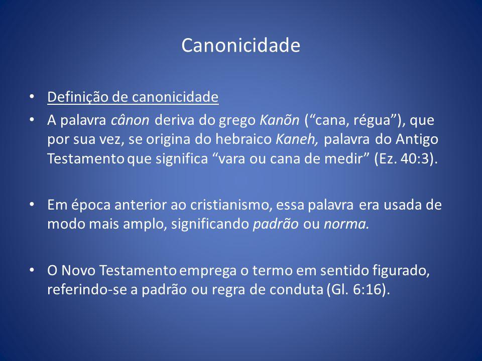 Canonicidade Definição de canonicidade