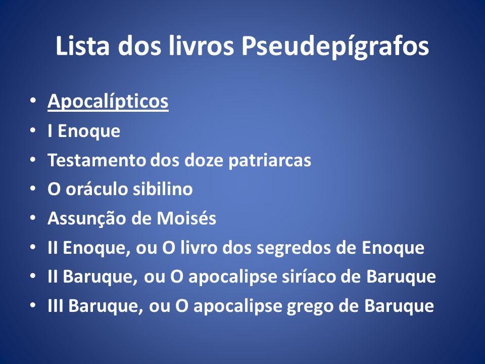 Lista dos livros Pseudepígrafos