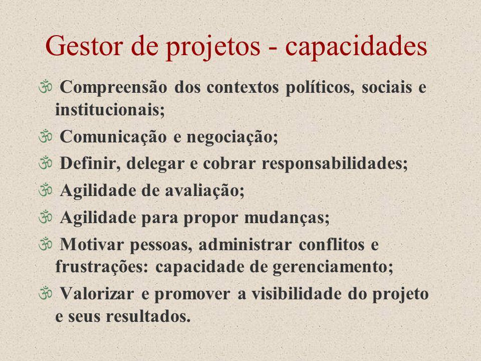Gestor de projetos - capacidades