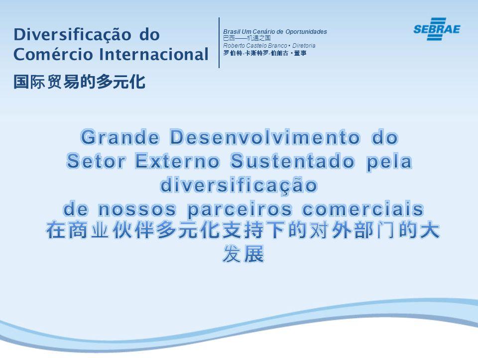 Grande Desenvolvimento do Setor Externo Sustentado pela diversificação