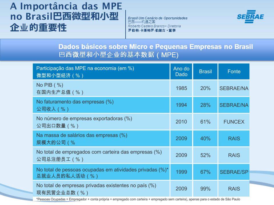 A Importância das MPE no Brasil巴西微型和小型企业的重要性