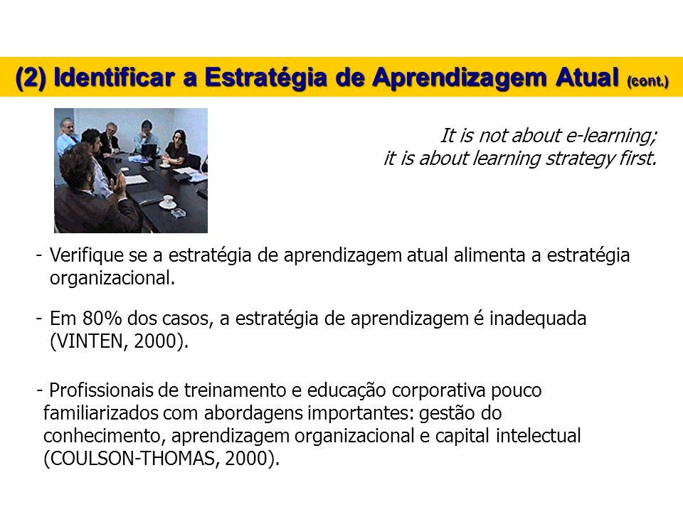 (2) Identificar a Estratégia de Aprendizagem Atual (cont.)