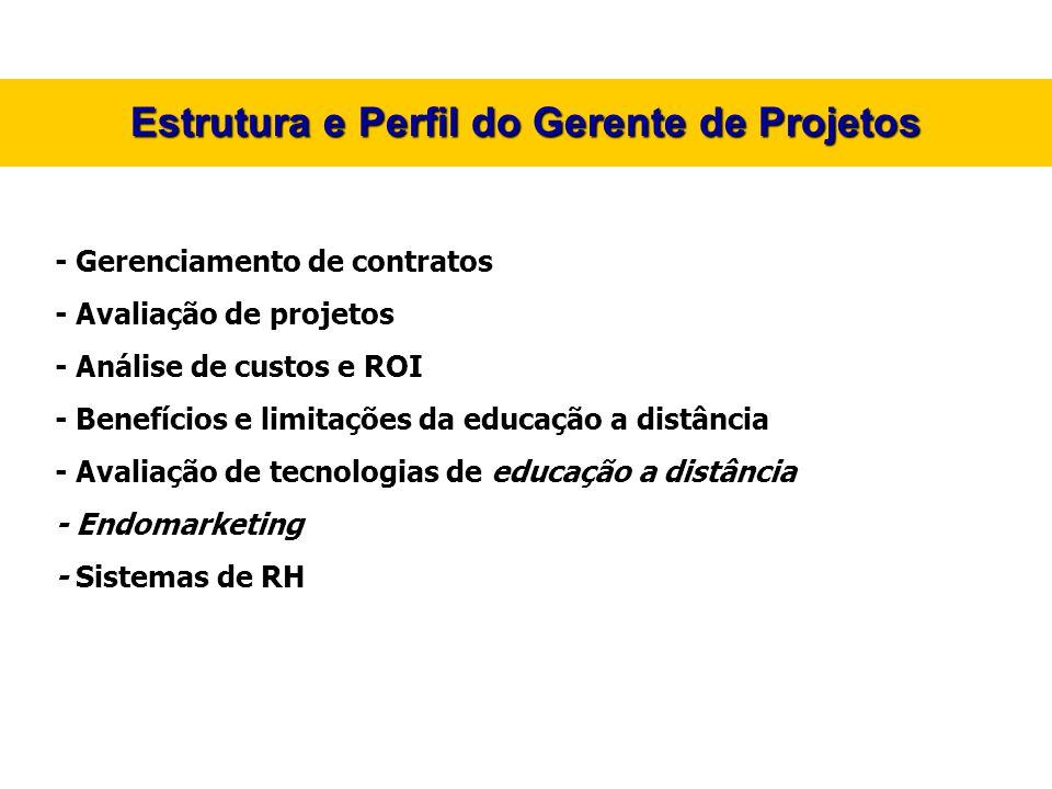 Estrutura e Perfil do Gerente de Projetos