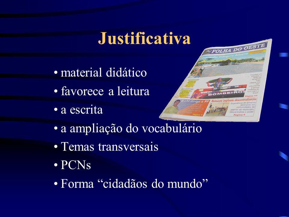 Justificativa material didático favorece a leitura a escrita