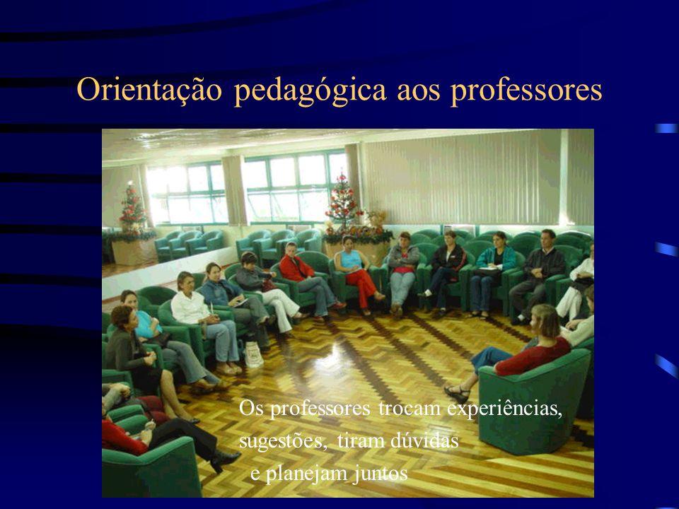 Orientação pedagógica aos professores