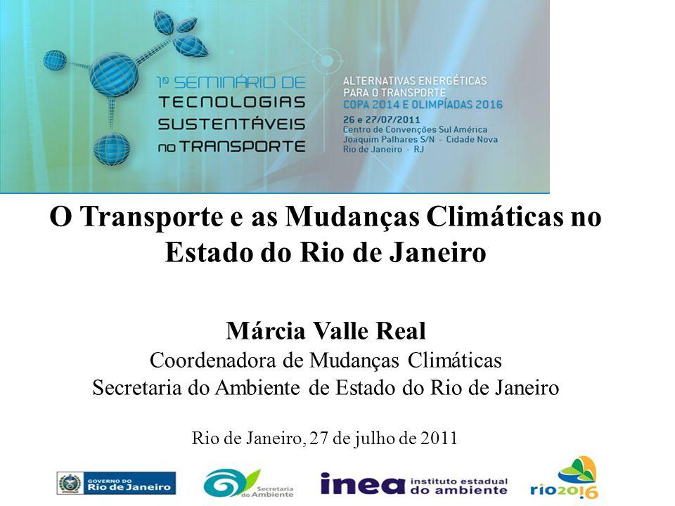 O Transporte e as Mudanças Climáticas no Estado do Rio de Janeiro