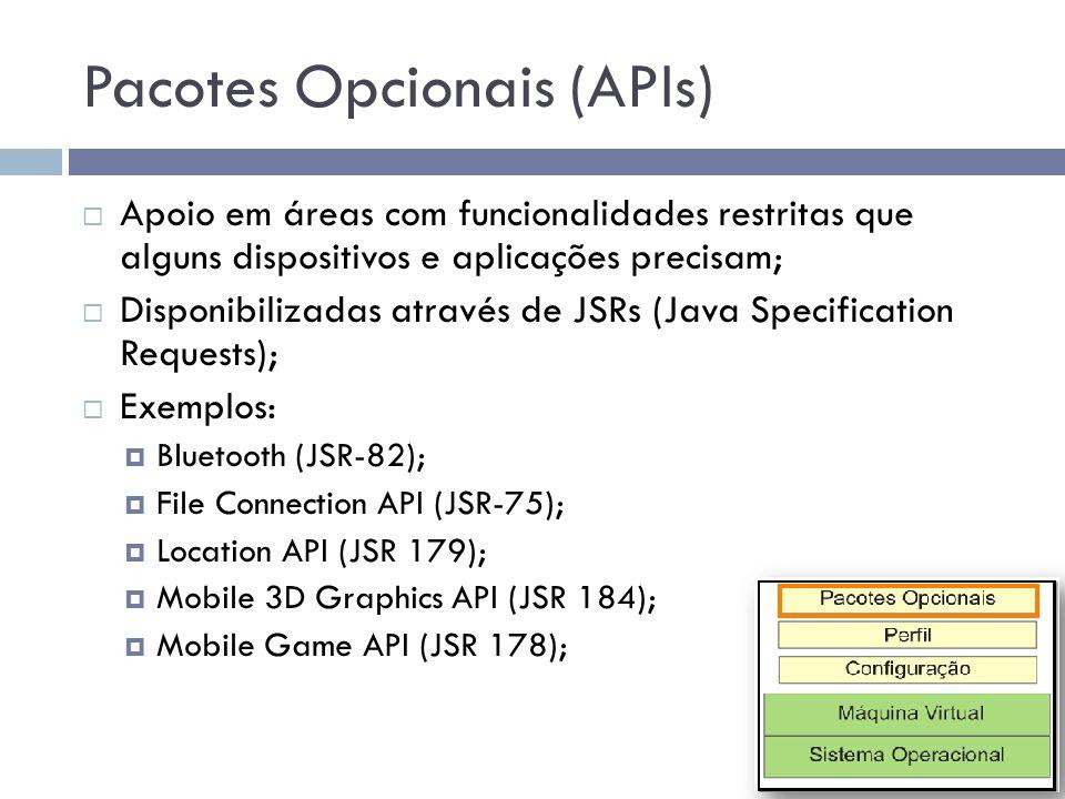 Pacotes Opcionais (APIs)
